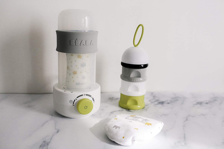 BÉABA Chauffe-Biberon Vapeur Baby Milk Second, Néon
